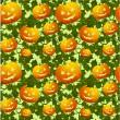 naadloze achtergrond met pumpkins — Stockvector