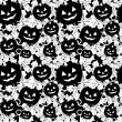 Stockvektor : Seamless background with pumpkins