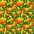 Seamless background with pumpkins — Stockvectorbeeld