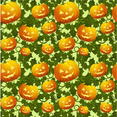 Seamless background with pumpkins — Stock Vector