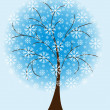 Royalty-Free Stock Vector Image: Winter tree from snowflakes
