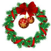 Christmas garlands — Stock Vector