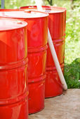 Metal Barrels — Stock Photo