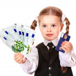 Happy child with money and credut card. — Stock Photo #7110623