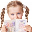Child holding international passport. — Stock Photo #7110640
