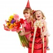Children in party hat. — Stock Photo #7110773
