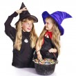 Witch with trick or treat. — Stock Photo