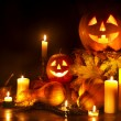 Halloween pumpa lykta — Stockfoto #7110889