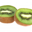 Kiwi fruit on a white background — Stock Photo