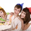 Group of teenagers celebrate happy birthday. — Stock Photo #7111142