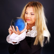Young woman with crystal ball. — Stock Photo #7111161