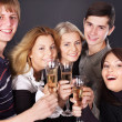 Group drinking champagne. — Stock Photo
