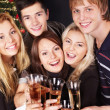 Group young at nightclub. — Foto Stock