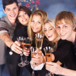 Group young drinking champagne. — Stock Photo #7111184