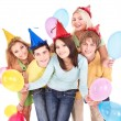 Group of young in party hat. — Stock Photo #7111274