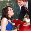 Man propose marriage to girl. — Stock Photo #7111352