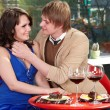 Couple on date in restaurant. — Stock Photo #7111357