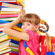 Child with pile of books. — Stock Photo #7112054