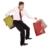 Businessman with bag shopping. — Stock Photo