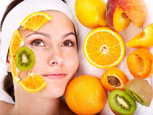 Natural homemade fruit facial masks . — Photo