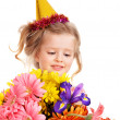 Child in party hat. — Stock Photo