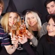 Stock fotografie: Group young drinking champagne.
