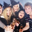 Group young drinking champagne. — Stock Photo #7258352