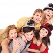 Group young on party. — Stock Photo #7258384