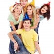 Group of young in party hat. — Foto de stock #7258397