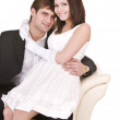 Royalty-Free Stock Photo: Couple of girl and man. Love.
