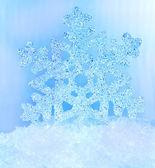 Vločka sněhu. — Stock fotografie