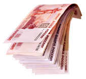 Stack of money (Russian rouble). — Stock Photo