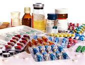 Blistrové balení prášků. lék. — Stock fotografie
