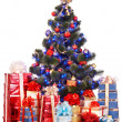 Christmas tree and group gift box. — Stock Photo #7559787