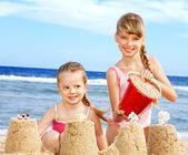 Children playing on beach. — Stock Photo