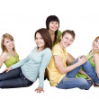 Group of young . Isolated. — Stock Photo