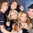 Group drinking champagne. — Stock Photo #7610063