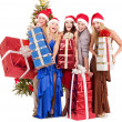 Group young holding gift box. — Stock Photo #7610132
