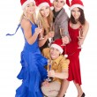 Group young in santa hat — Stock Photo #7610149