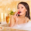 Woman relaxing in bath. - Stockfoto