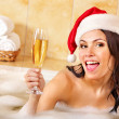 Womin santhat relax in bath. — Stock Photo #7610465