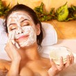 Natural homemade facial masks . - Stock Photo