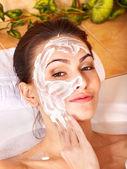 Natural homemade facial masks . — Fotografia Stock