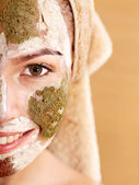 Natural homemade clay facial masks . — 图库照片