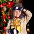 Kid with Christmas gift box. — Stock Photo #7840927