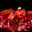Christmas ball and ribbon. - Foto Stock