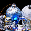 Christmas ball on black background. — Stock Photo