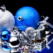 Christmas ball on black background. — 图库照片