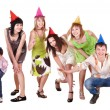 Group of teenager in party hat. — Stock Photo #7843099