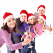 Group young in santa hat — Stock Photo #7843162